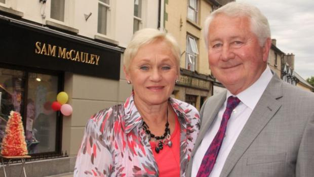Leslie and Sam McCauley outside their Enniscorthy premises.