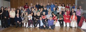 Nuala Carroll with friends and family at her 80th birthday party in the Talbot Hotel