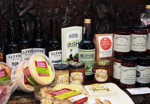 A selection of the Wexford produce on display at the Summit in Wells House