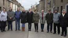 Residents (from left): Mary Lawlor, Angus Rossiter, David Mullan, Sarah Buckley, Martha Cashman, Betty Galvin, Sandra Fortune, Thomas O' Connor, Tom Harpur and Réiltín Murphy