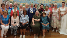 Lisa Redmond was the special guest of Tomhaggard Women's Shed group.
