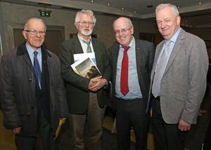 At the Wexford Historical Society meeting for the book launch in the Ferrycarrig Hotel: Austin O'Sullivan, Bernard Browne, Kevin Whelan and Jarlath Glynn