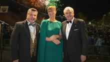 Cllr George Lawlor, Mayor of Wexford; Dr Mary Kelly, Chairperson of Wexford Festival Opera and RTE's Marty Whelan at the opening of last year's Wexford Festival Opera