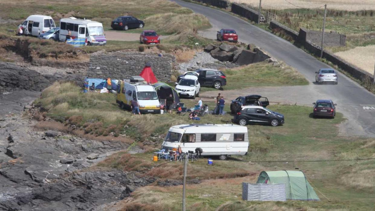 Pitched battle over 'wild camping' at Hook Peninsula ...