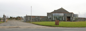 The entrance to the 16-acre site in Rosslare which will temporarily house customs checks