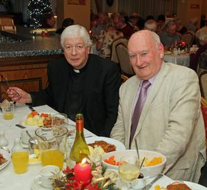 At the Taghmon Senior Citizens Christmas Party in the Oak Tree Foulksmills last Tuesday night were Fr Sean Gorman p.p. Taghmon and Henry Noonan