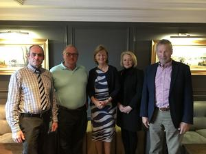 Deirdre Clune MEP with Wexford IFA County Executive members Paddy Murray, Ger O'Mahony, Edel Gahan (vice-chairperson) and Liam O'Byrne