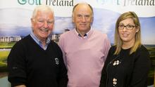 Pictured at the workshop, from left, were Matt Grannell and Paddy Longergan, from Rosslare Golf Club, and Karolett Mulligan, Fáilte Ireland. Picture Colm Mahady / Fennell Photography 2018.