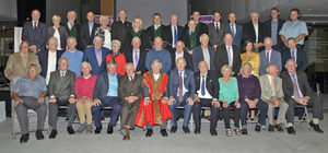 Team members and guests with Wexford Mayor Tony Dempsey, GAA president John Horan, Bishop Denis Brennan and officials