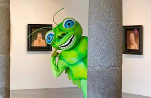 Flashback to 2010: An Alien by Bui Bolg at the Robert Ballagh exhibition 'Ego' in Wexford Arts Centre marking the launch of the WEXWORLDS Sci Fi and Fantasy Fiction Festival in November, 2010. The festival has this year been awarded a €200 grant