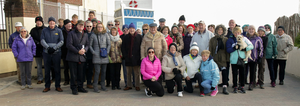 A group who took part in the historical walking tour of Rosslare