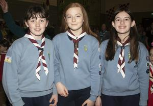 Leanne Butler, Grace McGuire and Amber Moore Piercestown Guides