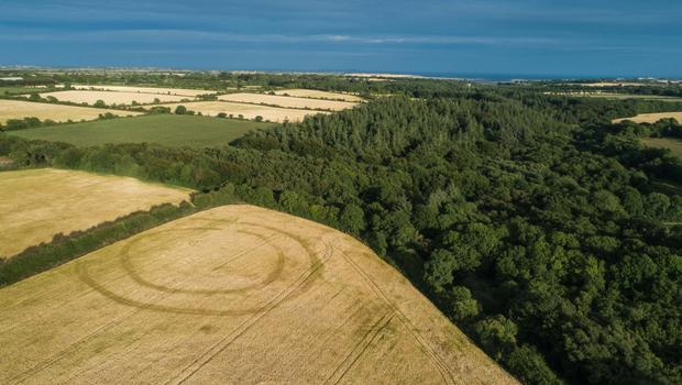This aerial image by Declan Colfer captures the site of an ancient settlement in Tintern
