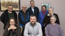 At the Castlebridge Community Development Meeting in the community centre, back, Arvi Davidenrs, Nicky Murphy, Paul O'Brien, Dot O'Brien and Phyllis Gordon; front, Mary Hamilton, Colm Byrne and Sarah Kelly.
