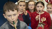 Some of the children performing 'Jingle Bells'