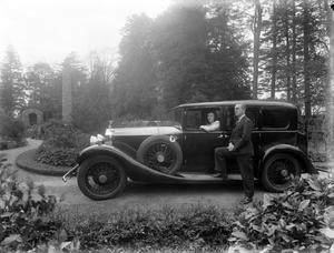 Mr and Mrs Philip B Pierce with their Rolls Royce at Park House, Wexford on June 5, 1946