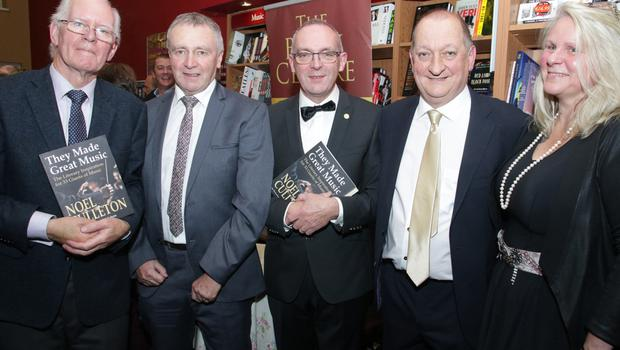 Michael Freeman, Three Sisters Press; Michael Doyle, Three Sisters Press; Ger Lawlor, who launched the book; author Noel Culleton and Susan Eccleston of Family Carers Support