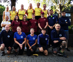 The Rowing Club members who took part in the Great River Race