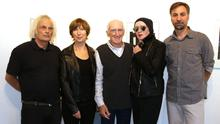 At the opening of the exhibition in the Kamera 8 Gallery on Rowe Street (from left): Michael Snoek, Mary Ruth Walsh, Alen MacWeeney, Anya von Gosseln (curator) and Claudia Nego