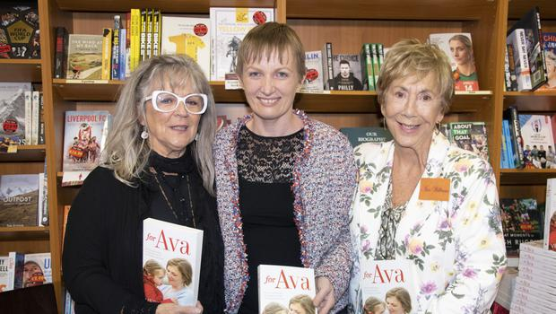 Vera Twomey (centre) at the Wexford launch of her book 'For Ava' in the Wexford Book Centre alongside Ruth Hegarty, from RTE's Fair City, who performed the launch, and Ann Hennessy