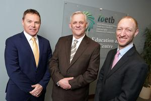 Richard Murphy, head of business solutions, Datapac; Denis Hackett, systems manager, ETB; and Gonzalo Faura, CEO, Swappsi