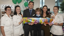 Carmel Timmons, Anne Foley, proprietor and pharmacist, Ed Whelan with his daughter, Anna Whelan, pharmacist, Muireann Redmond and Sarah Timmons at Whelan's Pharmacy, St Michael's Road, Gorey, celebrating five years in business