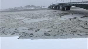 History as harbour freezes The Slaney turns to ice at Wexford Bridge.