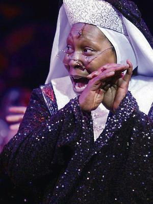 Whoopi Goldberg in the West End production of 'Sister Act'.