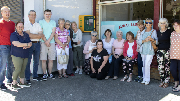 A new defibrillator was installed outside the shopping centre in Coolcotts last week