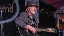Musician and actor Patrick Bergin playing with The Dominic Street Ramblers.