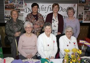 The Delightful Dollies: from left, back Catherine Rossiter, Marion Morrissey, Phylis Healy and Kathleen Hennessy; seated, Jean Hendrick, Kit Kenny and Theresa O'Connor.