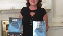 Margaret Bowe, Director of Marlfield with the awards.