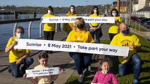 Darkness Into Light supporters at the launch in New Ross last week. Photo: Mary Browne