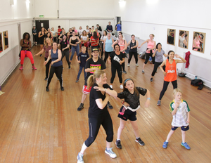 Participants in the Zumba Masterclass in aid of Pieta House at St. Joseph's Community Centre