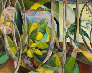 Mary Swanzy, Abstract geometric painting of plants
