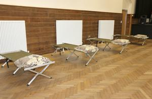 The Presentation Centre in Enniscorthy was converted into a temporary shelter for homeless men.