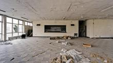 Fergus's photographs of the abandoned Albatros site, an oil plant outside New Ross, Rosslare shore