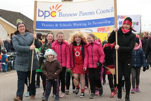 Bannow Parents Council marching in the Carrig-on-Bannow parade on Saturday