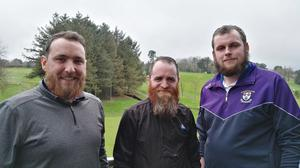 Eoin McMahon, Shane O'Neill and Paddy Murphy who have been growing their beards for CFI.