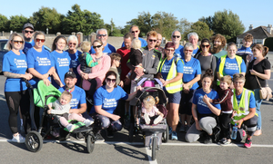 The two mile walkers group at the Toddy Moore 10K