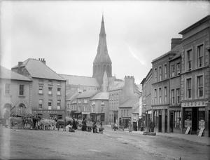 A busy day at the Market Square, Enniscorthy, in the early 1890s. All photos courtesy of the NLI