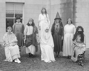 Pupils of Our Lady of Lourdes Holy Faith School, Rosbercon, New Ross, dressed up for a school play, December 23, 1930. All photos courtesy of the NLI