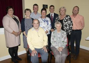 Tony and Kitty Hynes, at front, with Wexford St. Vincent de Paul volunteers Ben Doyle, Lillian Clowery, David O'Neill, Elizabeth Foley, Kieran Stafford (national president), Annette Beckett (Wexford president) and Noel Cassidy