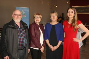 Matt and Margaret Whelan, and Sabine Rosler with her daughter, Niamh, at the launch.