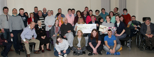 Members of VETOS Catherine Gray, Paulina Klinger, Larry Murphy, Larisa Fiodonova and Mary-Ann O'Rourke presented a cheque of €850 to Wexford Able Disable Club on Monday evening