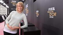 Stephanie Roche in Zurich on Monday at the FIFA Ballon D'Or awards ceremony.