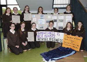 The Loreto Justice and Peace Group with their display in the school