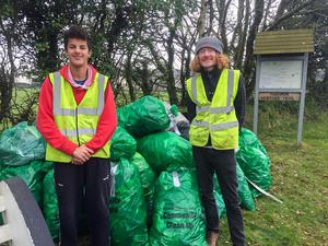 Aaron and Paul Codd taking part in the Taghmon Action Group Spring Clean