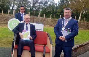 Healthy Wexford Chair Cllr John Hegarty, Minister Frank Feighan and Cllr George Lawlor