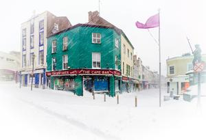 The snow brought out the best in Wexford photographers, including this stunning picture-postcard image of the Bull Ring from the lens of Declan Roche.